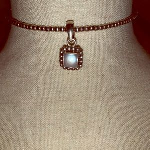 Silpada Beaded Choker Necklace with Pearl Pendant